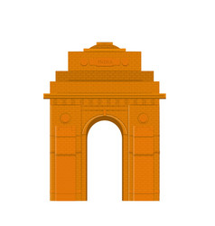 The india gate vector