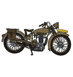 Vintage sand motorcycle vector image