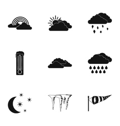 Weather icons set simple style vector
