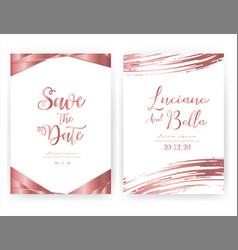 wedding invitation card save date wedding vector image