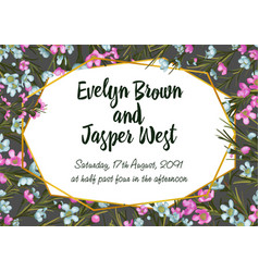Wedding invitation card with beauty floral vector