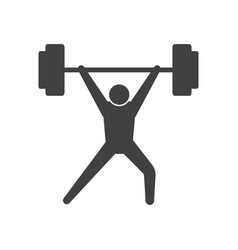 Weightlifting icon design template isolated vector