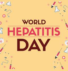 World hepatitis day design banner vector