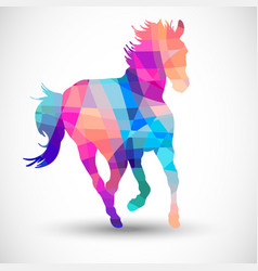 Abstract horse of geometric shapes vector
