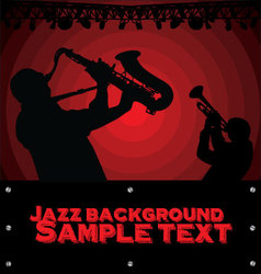 Abstract Jazz music background vector image vector image
