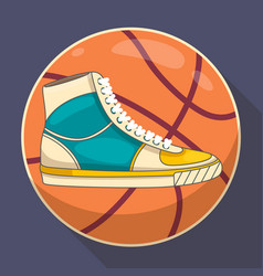 basketball sneakers graphic vector image vector image