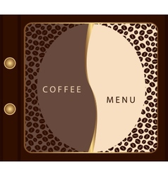 Coffee menu template vector image vector image