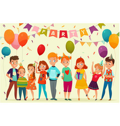 kids party composition vector image vector image