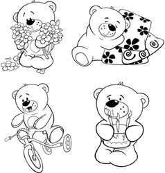 A set of bears vector image vector image