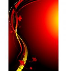 autimn fire vector image vector image