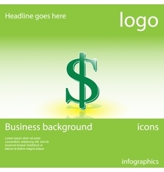 Dollar business background vector image vector image