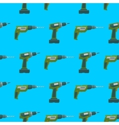 drill screwdriver seamless pattern vector image vector image