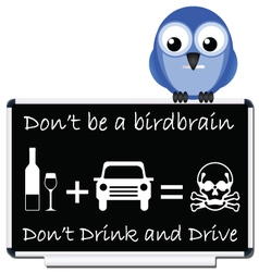 drink and drive message vector image