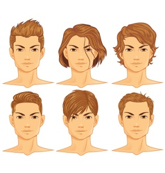 male hairstyle vector image