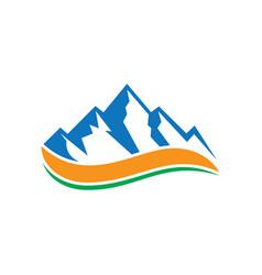 rocky mountain wave logo vector image vector image
