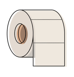 toilet paper roll in colorful watercolor vector image