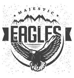 vintage majestic eagle label template vector image vector image