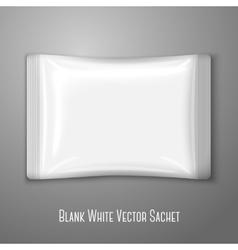 Blank white flat plastic sachet isolated on grey vector image vector image