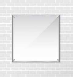 Brick wall and frame background vector image vector image