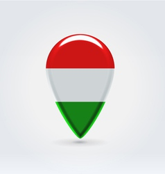 Hungarian icon point for map vector image vector image