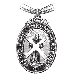 Insignia of the order of the thistle great britain vector