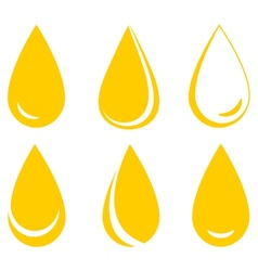 Set of oil drops vector