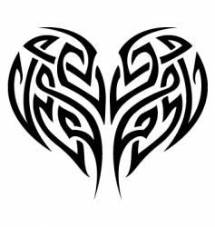 tribal tattoo heart vector image