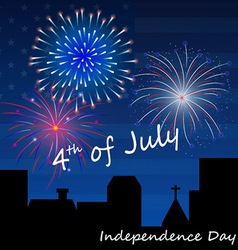 4th of July Fireworks Background vector image vector image