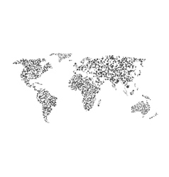 Abstract world map vector image