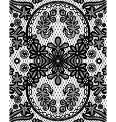 beautiful floral lace with a circular elements vector image