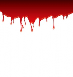 blood drips vector image vector image