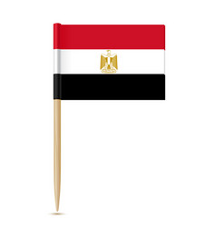 flag of egypt flag toothpick on white background vector image