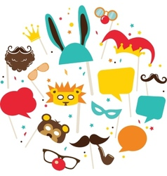 Photobooth Birthday and Party Set vector image