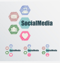 Sign social networks and the internet vector