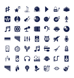 49 music icons vector
