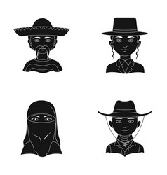 A mexican a jew a woman from middle east an vector