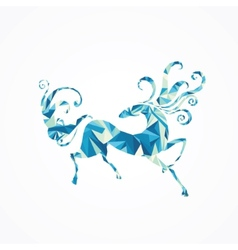 Abstract horse vector image