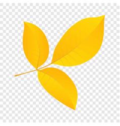 autumn leaf icon flat style vector image