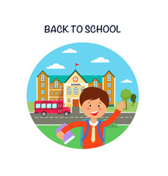 Back to school poster flat vector
