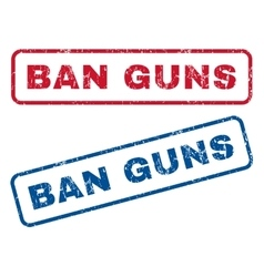Ban Guns Rubber Stamps vector