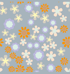 beautiful seamless romantic pattern with colorful vector image