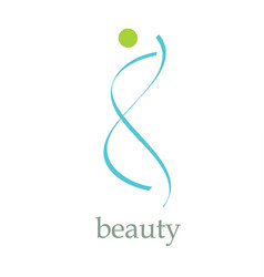 beauty logo vector image