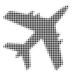 Black pixel jet plane icon vector