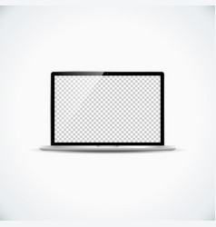 blank laptop template mockup vector image