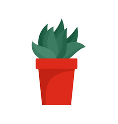 cactus plant pot icon flat style vector image