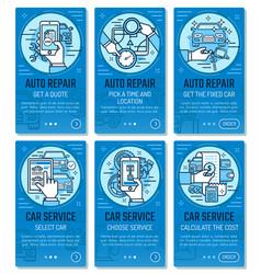 Car service auto repair mobile application vector