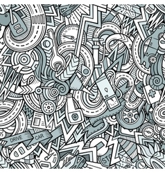 Cartoon hand-drawn doodles Vehicle theme vector