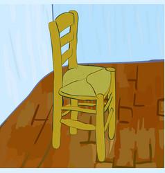 Chair in van gogh style vector