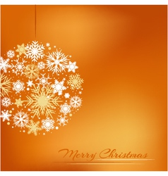 Christmas background with decoration vector