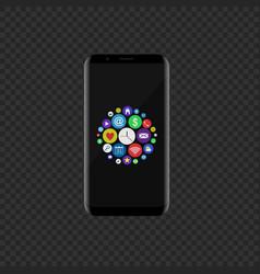 colored icon set vector image